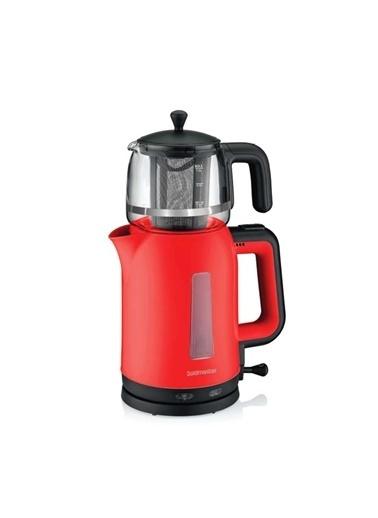 Goldmaster Bergamot Çay Makinesi Kırmızı In-6321K Renkli